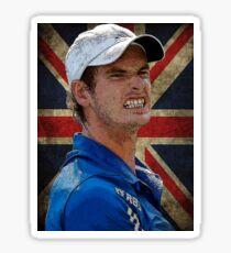 Andy Murray British Flag Sticker