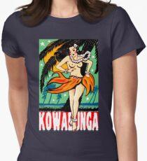 Kowabunga! Womens Fitted T-Shirt