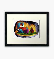 A rest before Christmas - Color version Framed Print
