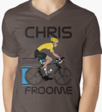 Chris Froome Yellow Jersey Men's V-Neck T-Shirt