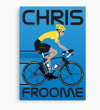 Chris Froome Yellow Jersey Canvas Print