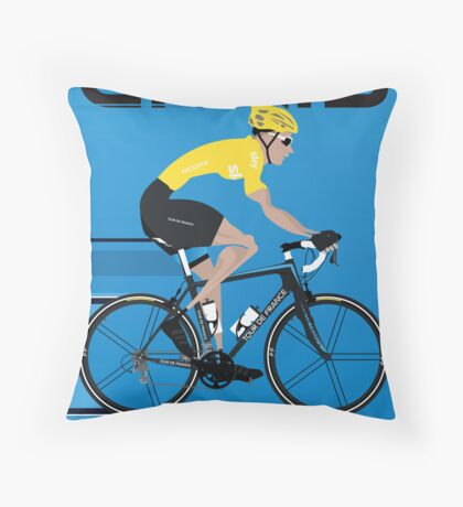 Chris Froome Yellow Jersey Throw Pillow