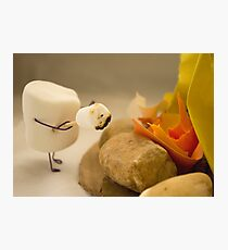 Cannibalism is Sweet - Anthropomorphic Marshmallow Photographic Print