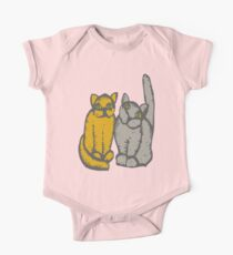 Cats couple - pets, cats, kittens, rescue,  One Piece - Short Sleeve