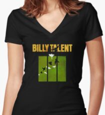 Billy Talent Any Color Backgrounds Women's Fitted V-Neck T-Shirt