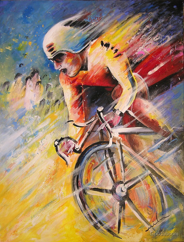 The Cyclist from Santiago by Goodaboom