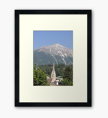 Reaching For The Top: Austria Framed Print