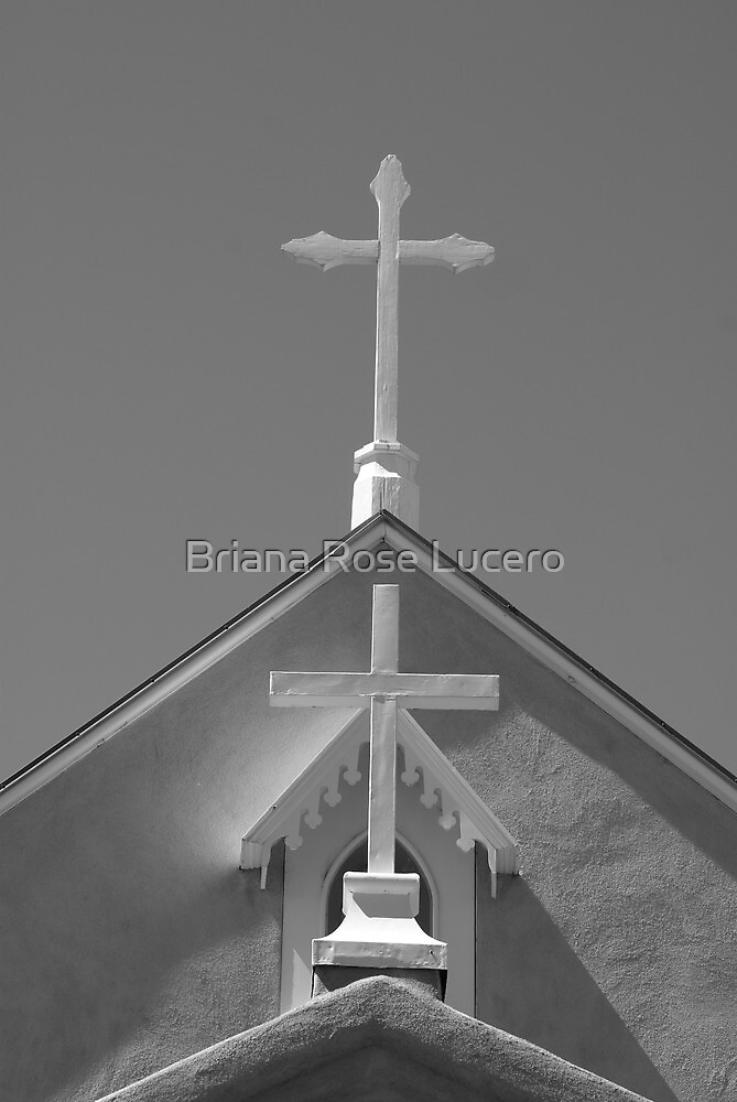 Black and White Crosses by Briana Rose Lucero