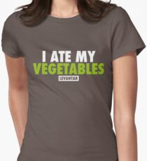 I Ate My Vegetables (White) Womens Fitted T-Shirt