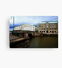 Gothenburg canal Canvas Print