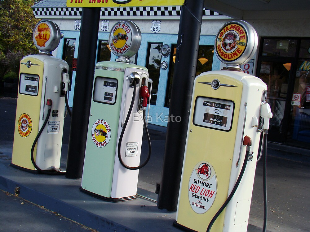 gas pumps from the past by Eva Kato