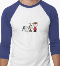 a charlie brown christmas mens baseball t shirt