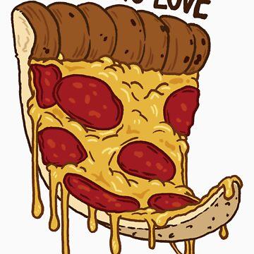 I Love Pizza by scythelliot