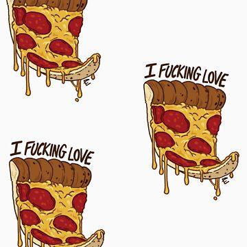 I Love Pizza Minis by scythelliot