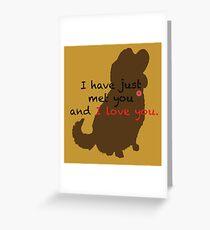 I love you- Dug Greeting Card