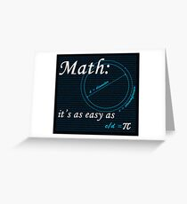 Easy as Pi Greeting Card