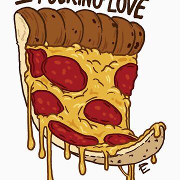 I Love Pizza Sticker by scythelliot