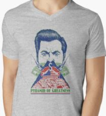 Pyramid of Greatness Men's V-Neck T-Shirt