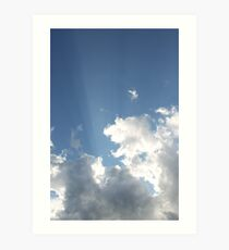 Clouds & Rays Art Print