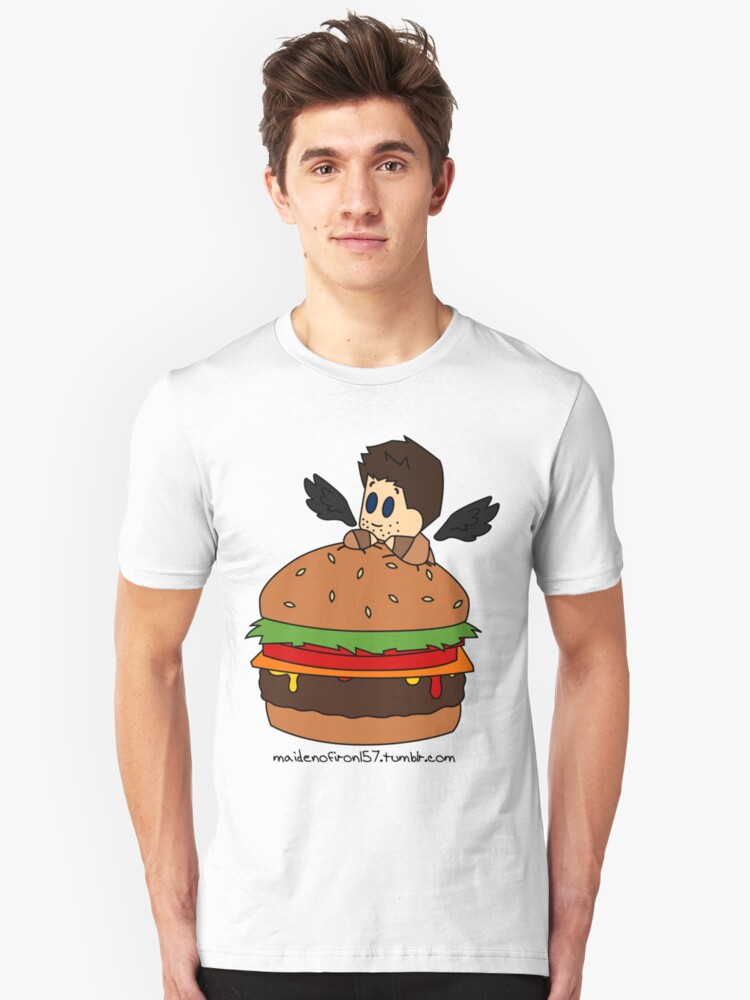 Cas the Angel of Cheeseburgers Unisex T-Shirt Front