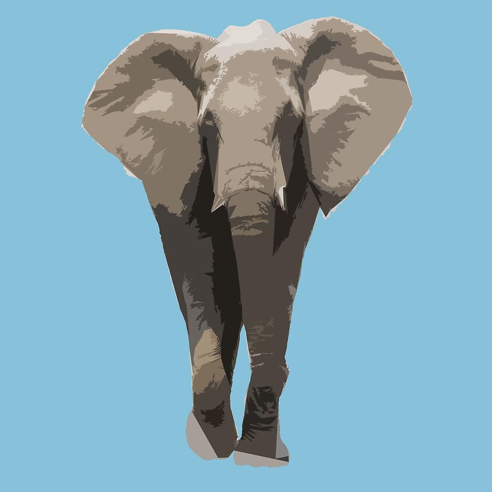 Cutout Elephant  by ASoftNarwhal