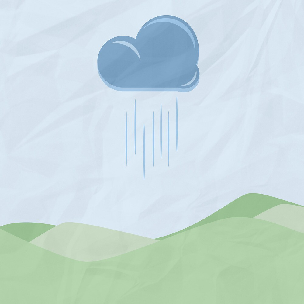 Raindrops and Green Hills by ASoftNarwhal