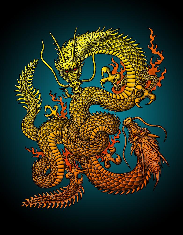 Twin dragons by kuuma