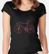 Rainbow Bike Women's Fitted Scoop T-Shirt