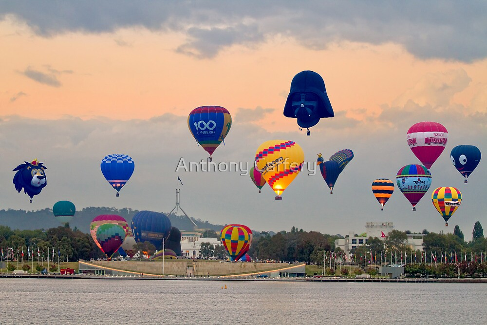 Canberra Balloon Festival montage by Anthony Caffery
