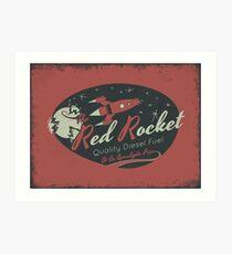 Red Rocket (Distressed) Art Print