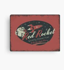 Red Rocket (Distressed) Canvas Print