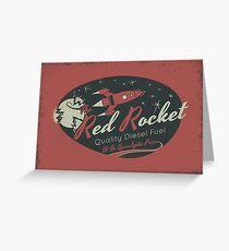 Red Rocket (Distressed) Greeting Card