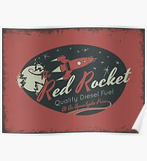 Rote Rakete (Distressed) Poster