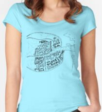 pub map of dublin Women's Fitted Scoop T-Shirt