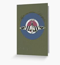 Vintage Look Fighter Plane Supermarine Spitfire Greeting Card