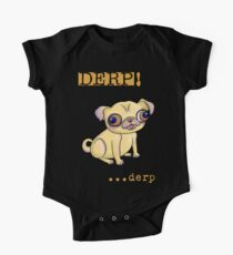 Pug Showing Derp Pride One Piece - Short Sleeve