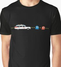 Ecto 1 Chasing Pac-Man Ghosts T-shirt