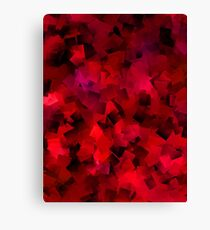 Red Colour On Tiled Pattern Canvas Print