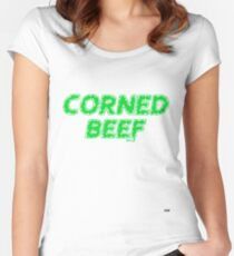 Tuam Slang T-shirts, (Corned Beef) Women's Fitted Scoop T-Shirt