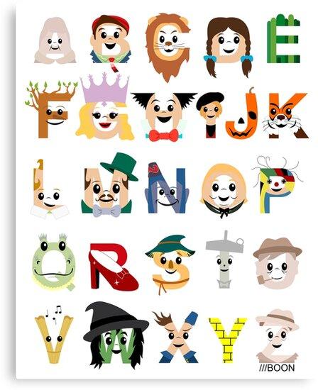 Oz-abet (an Oz Alphabet) by Mike Boon