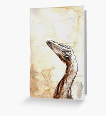 Troodon Greeting Card