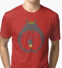 Totoro Silhouette Tri-blend T-Shirt
