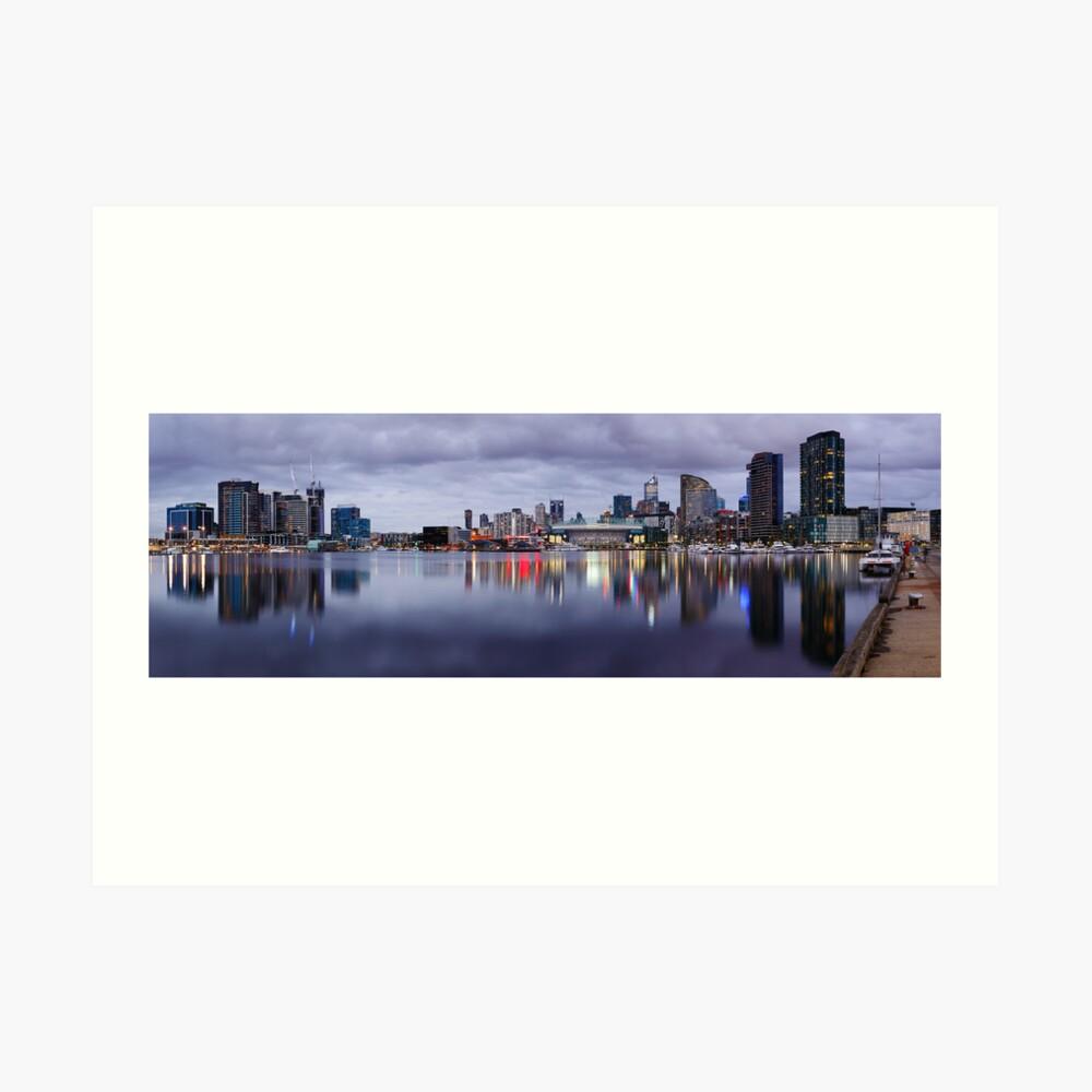 Docklands Evening, Melbourne, Victoria, Australia Art Print