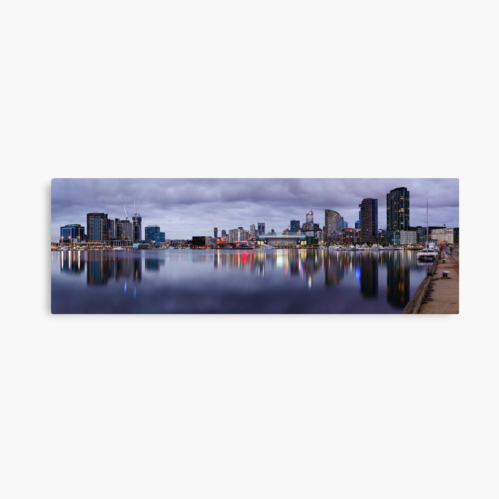 Docklands Evening, Melbourne, Victoria, Australia Canvas Print