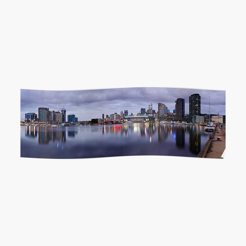Docklands Evening, Melbourne, Victoria, Australia Poster