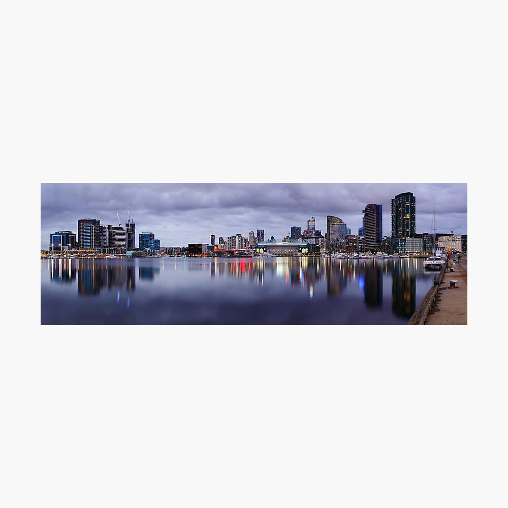 Docklands Evening, Melbourne, Victoria, Australia Photographic Print