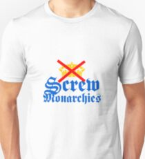 Screw Monarchies-Corona Extra T-Shirt