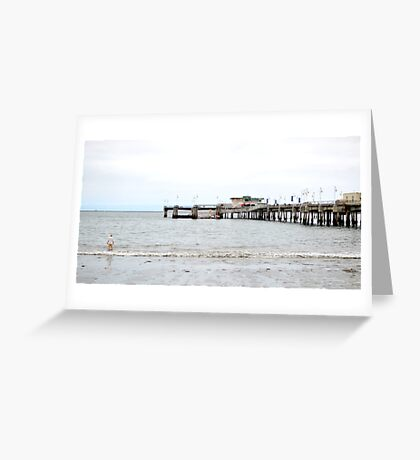 One Off the Pier Greeting Card