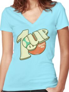 1UP Soda Women's Fitted V-Neck T-Shirt