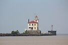 Fairport Harbor West Breakwater Lighthouse by Bob Hardy